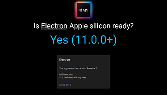 Screenshot_2020-11-21 Does Electron support Apple silicon