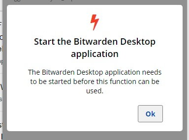 bitwarden error